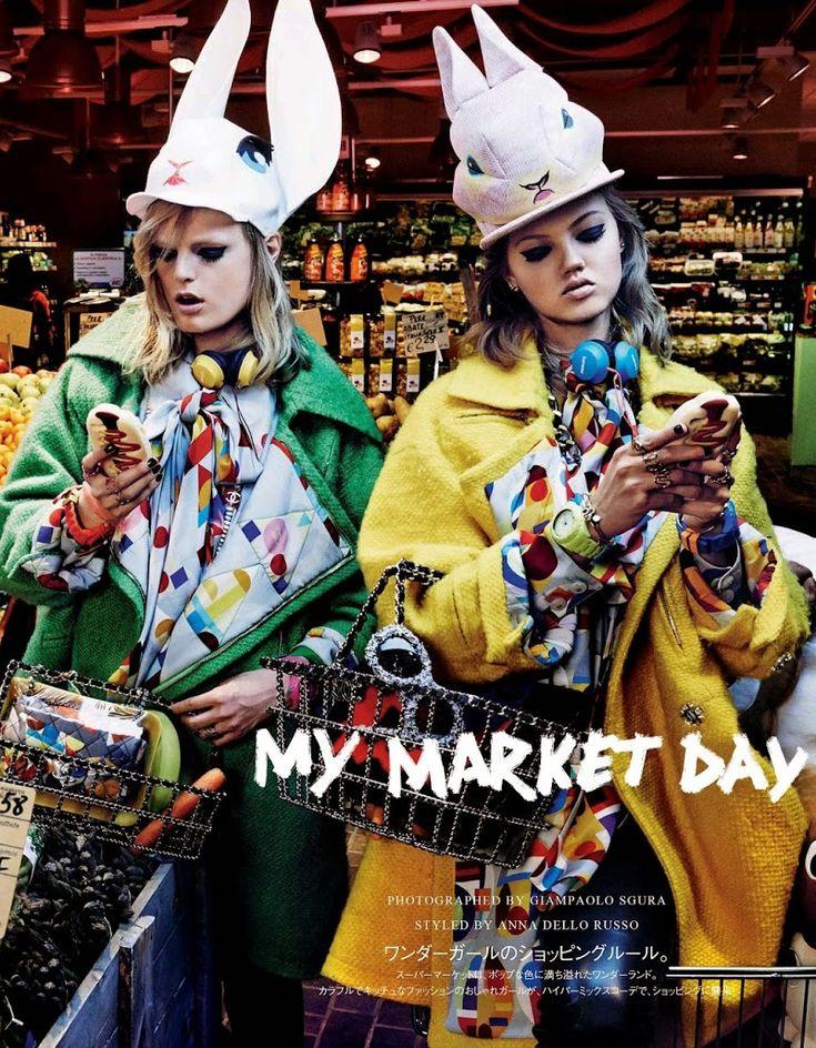 #LindseyWixson & #HanneGabyOdiele #fashion #editorial by Giampaolo Sgura for Vogue Japan October 2014. #photography #moda #fotografia