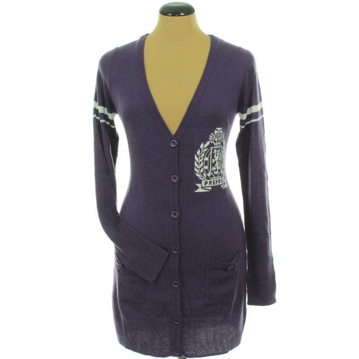 Clockhouse mintás lila kötött kardigán | Felső, pulóver, ing - Női ruha