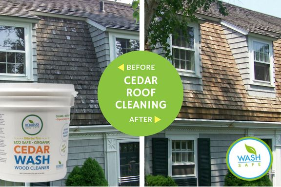 Our Eco Safe And Easy To Use Cedar Cleaners And Sealers Will Restore And Clean Your Cedar Siding Or Cedar Shake Roof To Like New C Cedar Cedar Roof Cedar Homes
