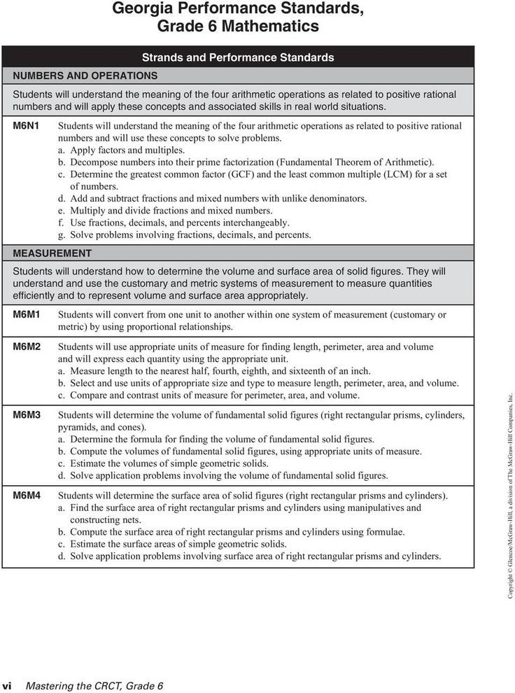4 Free Math Worksheets Sixth Grade 6 Factoring Least