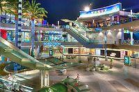 Santa Monica Place, Santa Monica CA, modern, open-air shopping Mall,  Bloomingdale's, Nordstrom, contemporary, stores , restaurants | David Zanzinger Unique Urban Stock Photography