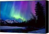 Northern Lights Painting by Shere Crossman - Northern Lights Fine Art Prints and Posters for Sale