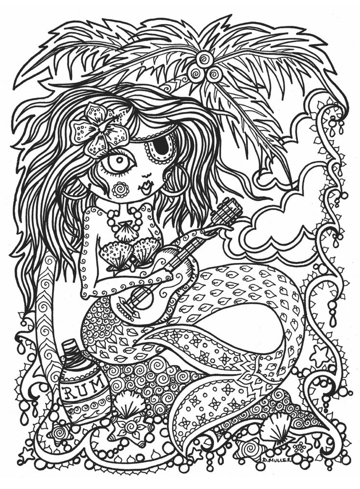 285 best mermaid coloring pages for adults images on