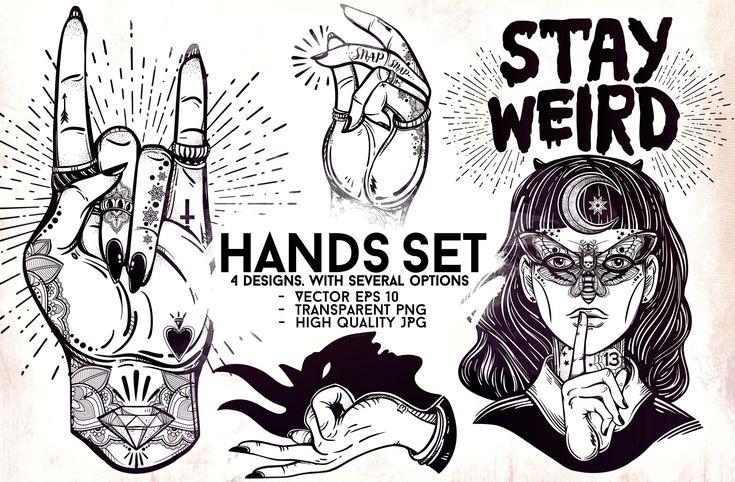 Hands Set by katja.gerasimova on @creativemarket