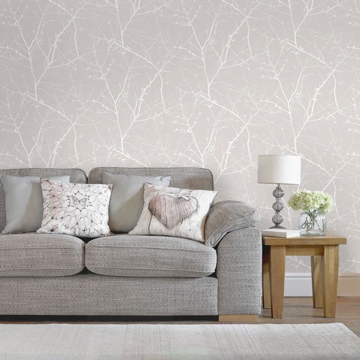 Modern Metallic Wallpaper Living Room - Modern Interior Design