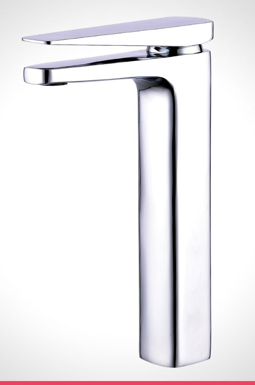 Rumba chrome extended basin mixer