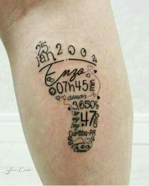 Pie Bb Recuerdo Tattoos Pinterest Tattoos Baby Tattoos And
