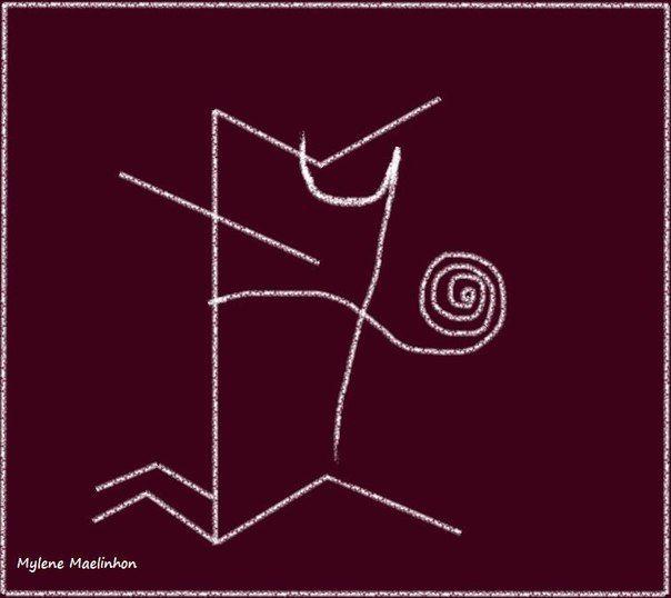 """Став для развязывания языка """"Птица-говорун"""". #руны #runes"""