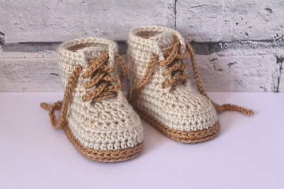 Crochet PATTERN Baby Boys Booty Combat Boot