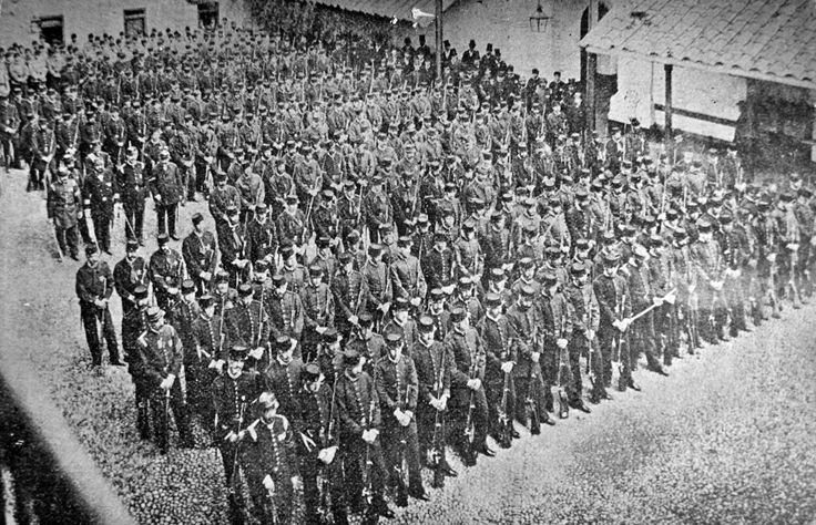 Bomberos armados Cuartel General (1879)
