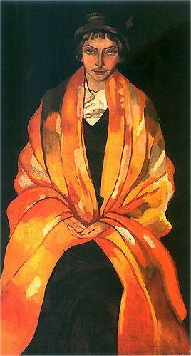 Stanisław Ignacy Witkiewicz, Portrait of Eugenia Dunin-Borkowska, 1912
