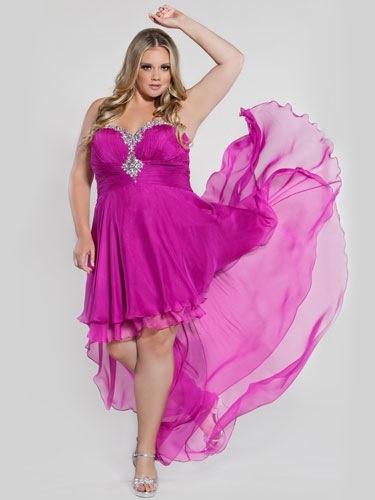 Plus Size High Low Hem Sexy Sized Dress