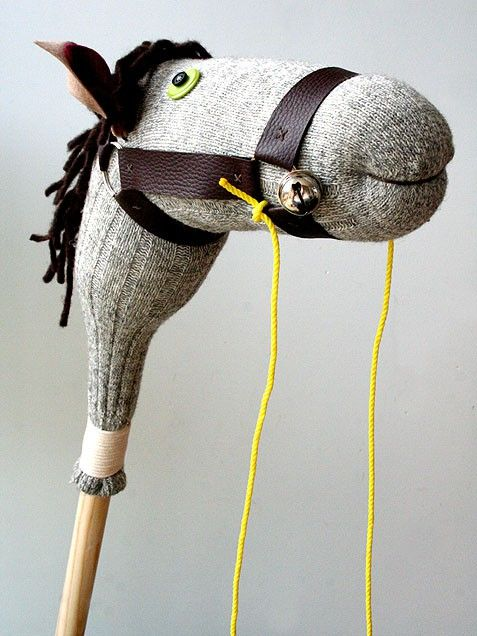 Horse - Fill one of dad's socks with stuffing, then sew on button eyes, felt ears, a thick yarn mane and leather strips for the bridle. Fasten to a shortened broomstick via coiled string, and gallop! Full instructions at LightBlueGrey.    Read More http://www.ivillage.com/our-favorite-diy-gifts-make-kids/6-b-405891#ixzz28Zu9YzLB   Sign up for iVillage Special Offers