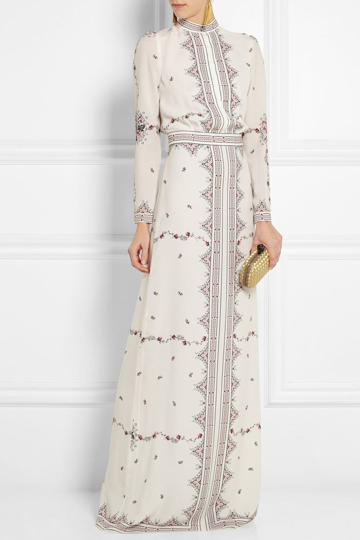 Vilshenko | Florence printed silk-crepe gown | NET-A-PORTER.COM