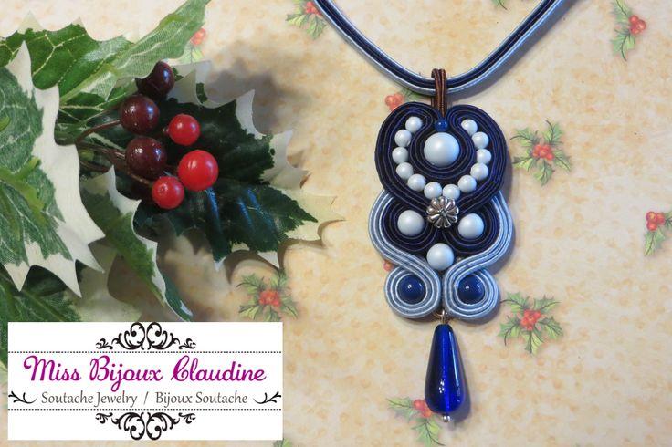 Soutache Pendant - by Miss Bijoux Claudine
