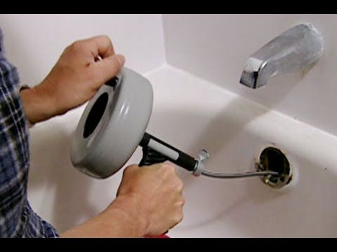 How to Clear a Clogged Bathtub Drain - This Old House #house