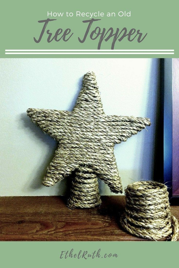 Craft, Tree Topper - Christmas tree topper, Christmas decorations, manila rope craft, rustic tree topper, rustic Christmas decorations, Christmas decorations with rope
