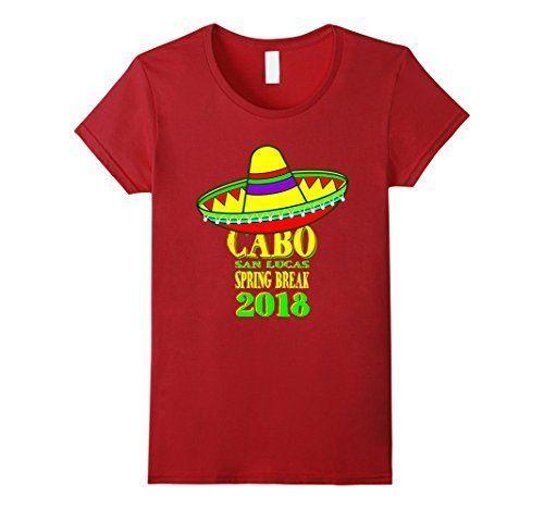 Spring Break 2018 Party T-Shirt Medium Cranberry Womens Cabo Mexico Souvenir NEW #MM #Doesnotapply