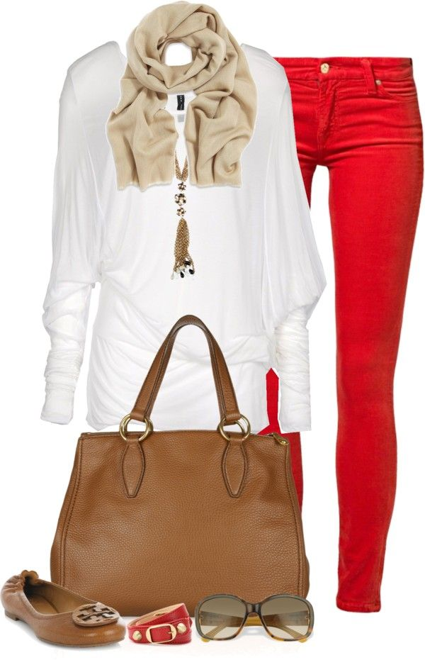 """Featured Items: Red Skinny Jeans"" by partywithgatsby ❤ liked on Polyvore"