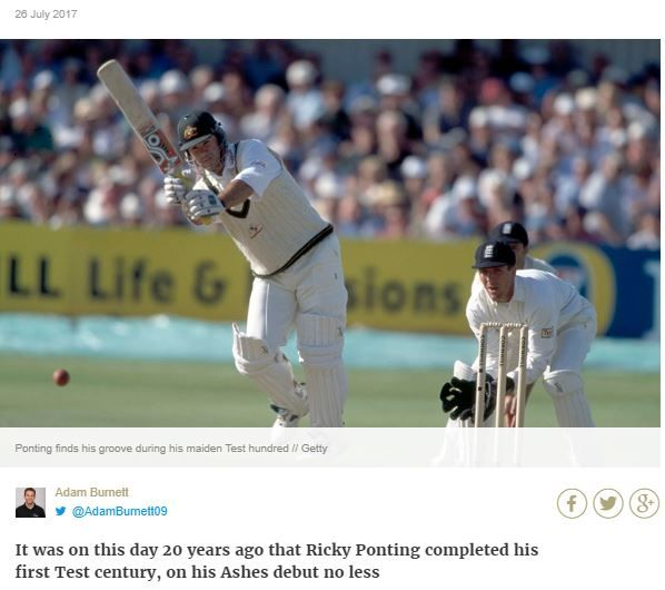 Ricky Ponting First Test 100