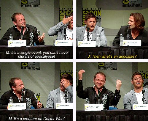 Mark Sheppard, Jensen Ackles, and Jared Padalecki supernatural comic con convention panel