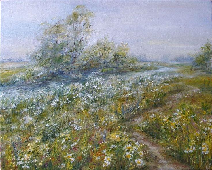 Łąka - Maria Roszkowska - obraz olejny