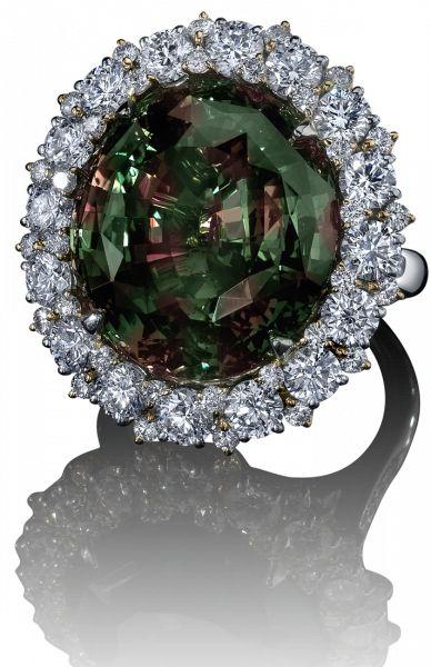 Robert Procop Exceptional Jewels ... 28Ct Alexandrite, I wonder if this is natural Alexandrite