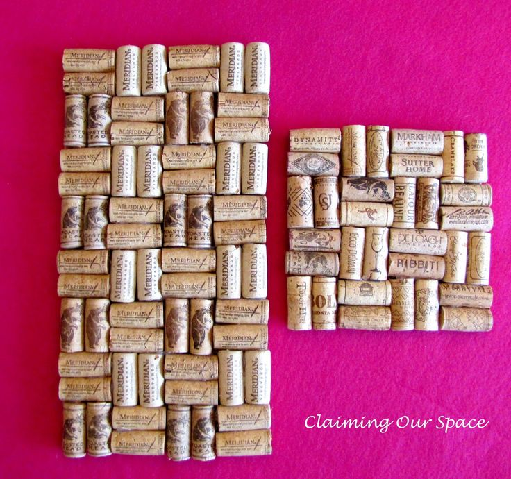 """Pin It    After last weekend's Trouble with Trivets  , I still had many corks left in my """"Big Box o' Corks."""" I also had more space in ..."""