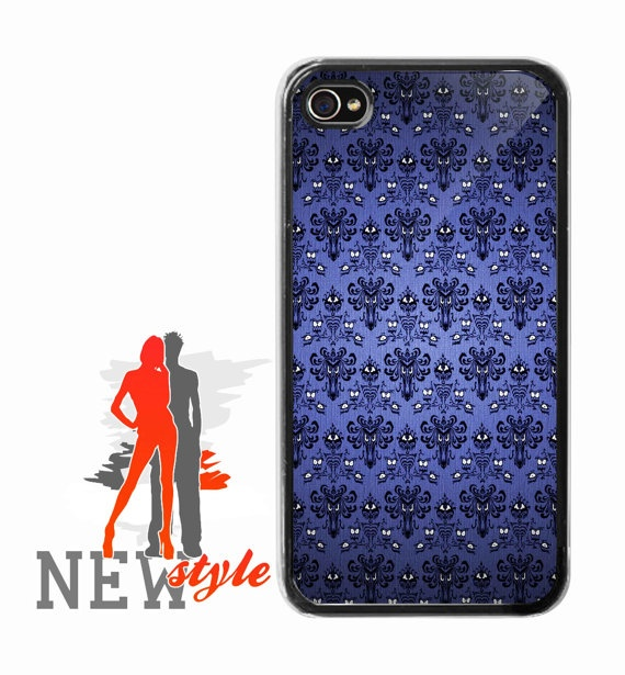 iphone 4/4s case  Haunted Mansion Wallpaper  by NewStyleDesign, $15.00