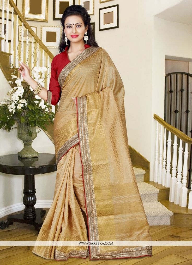 Style and pattern would be at the peak of your elegance when you attire this beige silk casual saree. Beautified with print work all synchronized nicely with the trend and style and design of the atti...