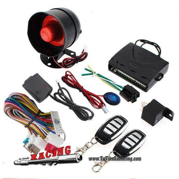 Kit Universal Coche Alarma + Unidad Control Cierre Centralizado Coche + 2 Mandos Distancia + Sirena -- 29,25€