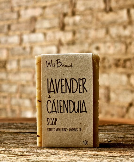 Lavender and Calendula Soap, Organic Soap, Palm Free Soap, All Natural, Scented, Vegan, Handmade, Cold Process Soap, Wildflower Seed Paper