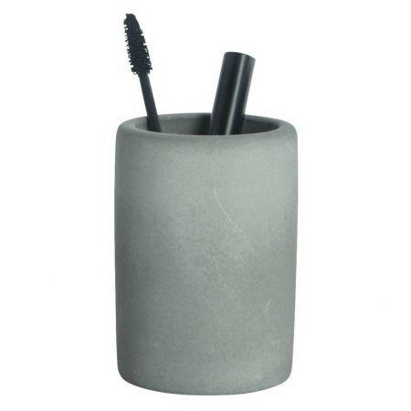 Housedoctor+Tandenborstel+houder+cement+grijs+ø7,6xh11,3cm #bathroom #grey #decoration #toothbrush #myhomeshopping