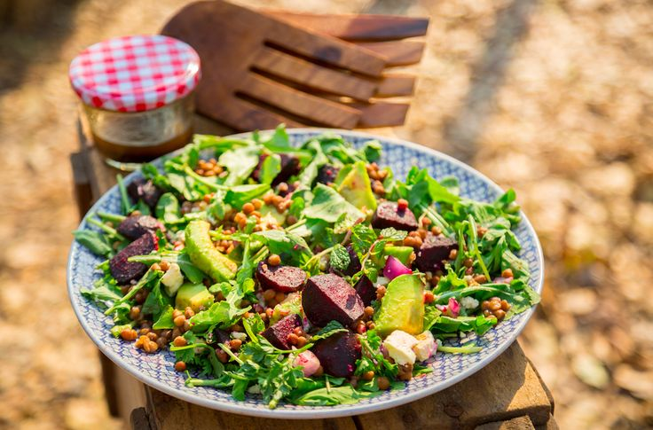 Roasted Beetroot, Avocado and Lentil Salad Serves 4 | Preparation time 10 minutes | Cooking time 30 minutes (mostly unattended) WHAT YOU'LL NEED 500g fresh whole beetroot 1–2 Tbsp olive oil ½ tsp ground cumin ½ tsp ground coriander 1 x 400g can lentils, drained ½ red onion, finely chopped two handfuls of baby spinach [...]