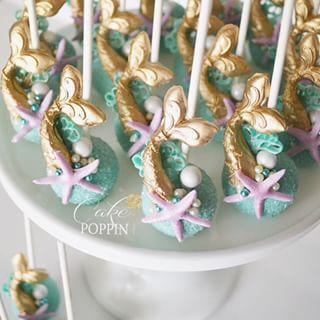 Mermaid tail cake pops