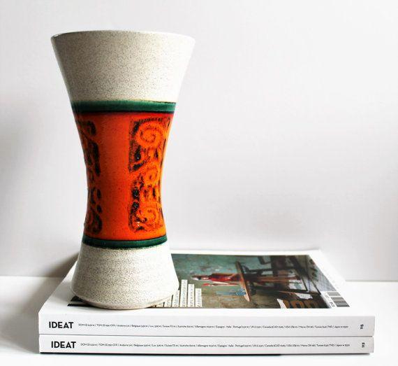 Vintage Dumler & Breiden West Germany by LAtelierDeNanaH on Etsy #wgp #westgermany #westgermanpottery #redvase #goldredcream #grey #orange #green #black #70svase #103-22 #midcenturymodern #modernist #retrodecor #westgermanceramic #keramik #ceramik #céramique #poterie #vintagefr #vintagestore #madeingermany #handmade #vintageshop #etsyfr #etsystore #etsyshop #etsyfinds #etsyseller #latelierdenanah #inspiration #DumlerandBreiden