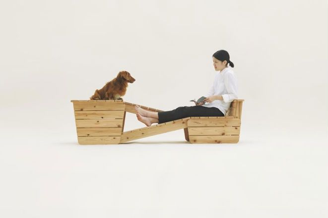 """""""Architecture for Dogs"""": ramped seating by Atelier Bow Wow"""