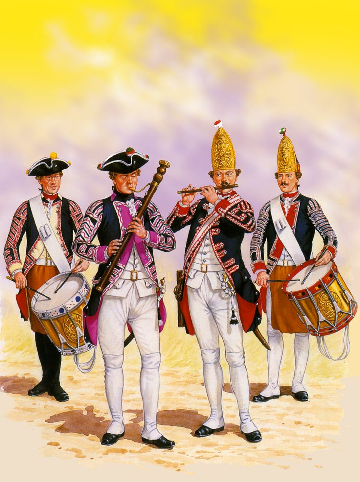 Frederick the Great's military band, Seven Years War