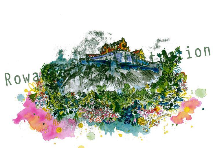 Edinburgh Castle Illustration by Rowan Leckie #rowanleckie #Edinburgh #thisisedinburgh #Edinburghcastle