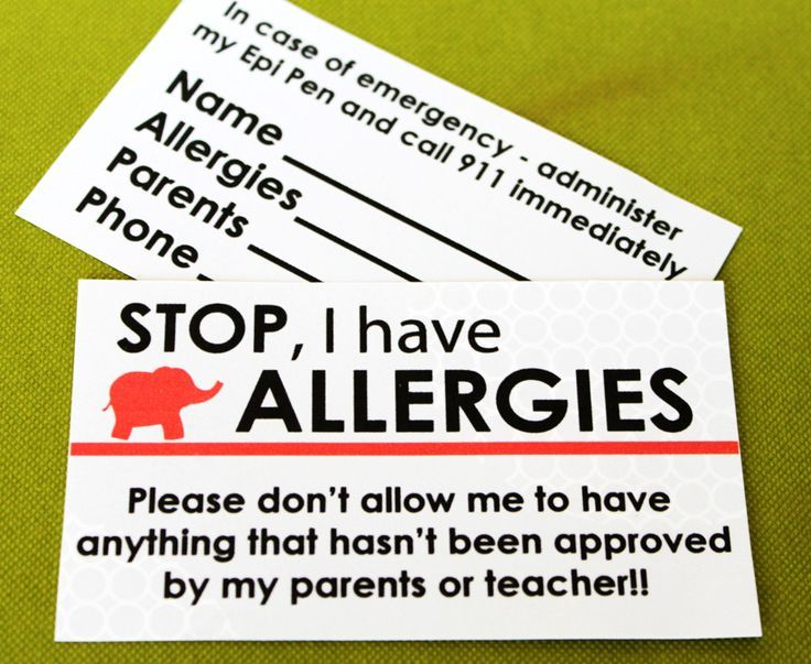 Free Printables for kids with Food Allergies...MUST make one for John!!!
