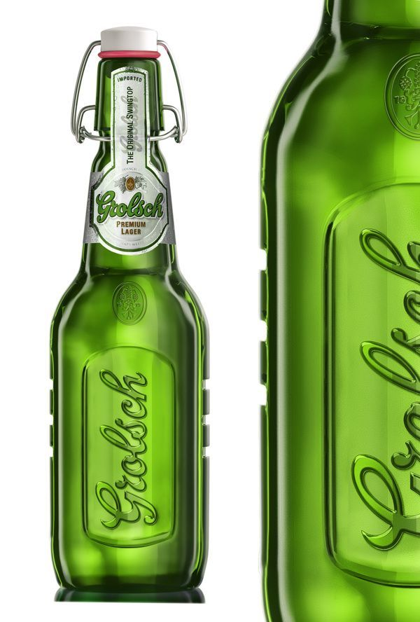 Grolsch beer 3d model by Degra Studio, via Behance