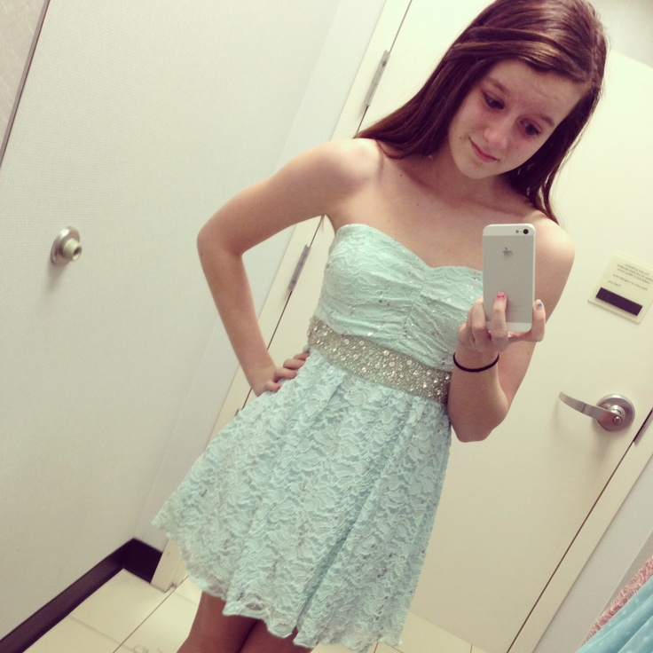 Pretty Tiffany Blue short dress I got . :) #tiffanyblue #dress