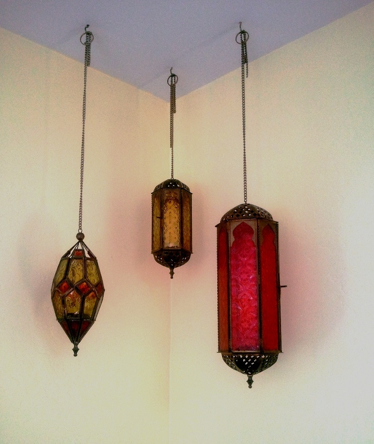 These hanging lights added a nice touch to the room