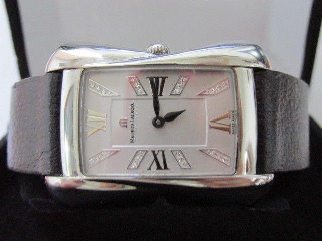 Rare Maurice Lacroix Divina with Genuine DIamonds Women Quartz Watch 25mm DV5012 #MauriceLacroix #LuxuryDressStyles