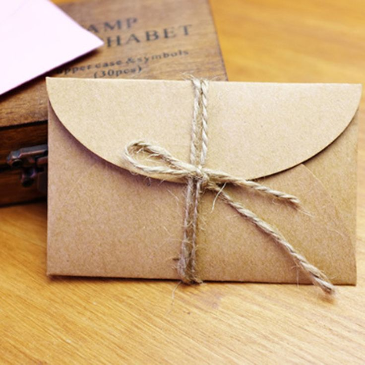50 шт./компл. Урожай Любовь маленький Коричневый Розовый Крафт бланк мини бумажные конверты свадебные приглашения конверт/свинка конверт/2 цвет