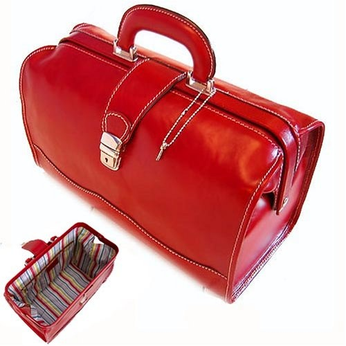 Click Image Above To Purchase: Floto Ciabatta Leather Doctor Bag - Tuscan  Red -