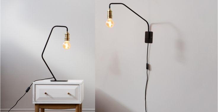Starkey, une lampe de table, noir et laiton | made.com