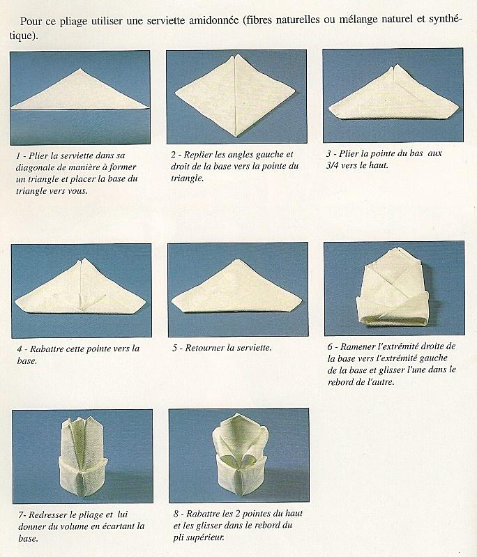 82 best serviettes images on pinterest napkin folding how to fold napkins and napkin. Black Bedroom Furniture Sets. Home Design Ideas