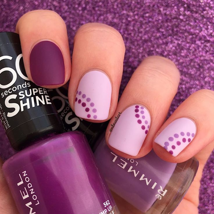 Hello! 💜 Dots for #nailartchallengejune ⚪️🔵⚫️ I really like dottic…
