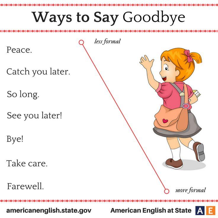 Ways to say: Goodbye